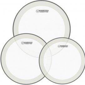 """WAMBOOKA HAMMER TONE COH-HM-SET1 ( 10"""",12"""", 14"""" ) CLEAR - WHITE CIRCLE"""