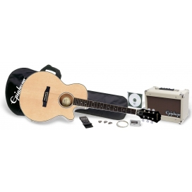 EPIPHONE PR-4E ACOUSTIC ELETRIC PLAYER PACK NATURAL