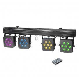 CAMEO PAR3 SET FARI LED + CASE + FOOTSWITCH + STAND