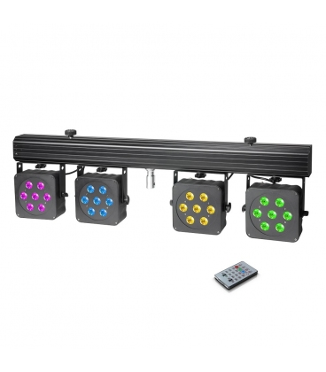 CAMEO PAR3 SET FARI LED RGBW + CASE + FOOTSWITCH + STAND