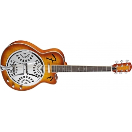 FENDER FR50CE RESONATOR BROWN SUNBURST CUTAWAY ELECTRIC