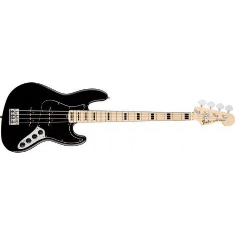 FENDER JAZZ BASS AMERICAN DELUXE V BLACK MAPLE NECK