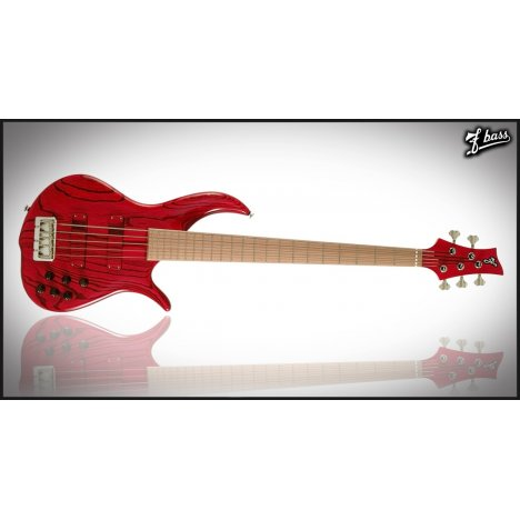 F BASS BN4 TRASPARENT RED MAPLE FINGERBOARD