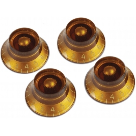 GIBSON PRHK-030 TOP HAT KNOBS VINTAGE AMBER 4 PEZZI