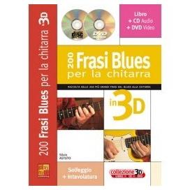 ASTUTO 200 FRASI BLUES PER LA CHITARRA 3D +CD +DVD ML3433