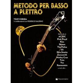 CORIZIA/SALERNO METODO PER BASSO A PLETTRO + CD