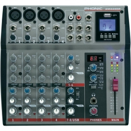 PHONIC AM440DP MIXER 12 INGRESSI 4 MIC / 4 STEREO + USB IN