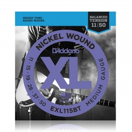 D'ADDARIO EXL115BT BALANCED XL BLUES/JAZZ 11/50