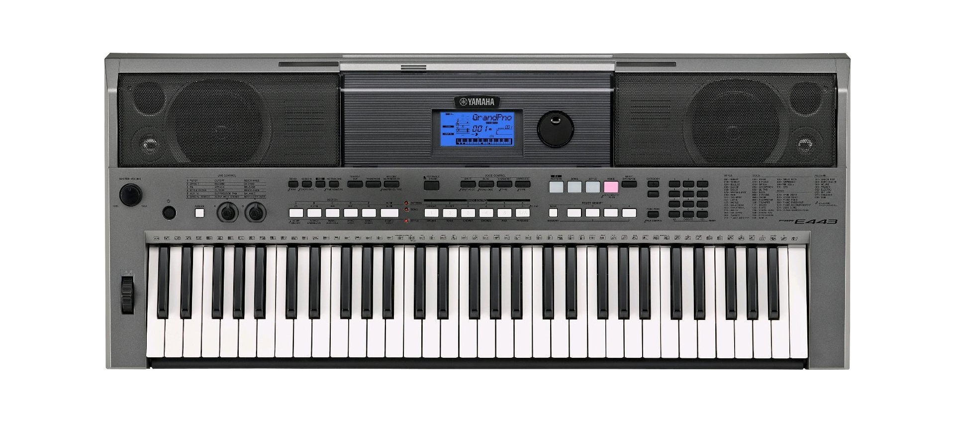 yamaha psr e443 tastiera 61 note con ritmi. Black Bedroom Furniture Sets. Home Design Ideas