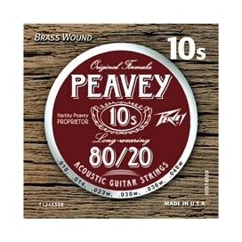 PEAVEY 80/20 BRASS WOUND ACOUSTIC STRING 10'S