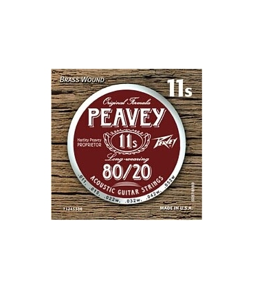 PEAVEY 80/20 BRASS WOUND ACOUSTIC STRING 11'S