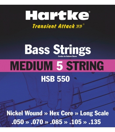 HARTKE HSB550 5CORDE MEDIUM 50/135 3 PACK SET