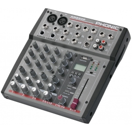 PHONIC AM220P MIXER 6 INGRESSI 2 MIC-2 STEREO USB IN