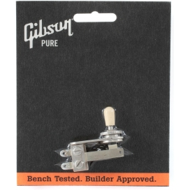 GIBSON PSTS-010 TOGGLE SWITCH L-TYPE WITH CREAM SWITCH CAP