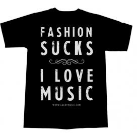 "LUCKY MUSIC T-SHIRT "" I LOVE MUSIC "" TAGLIA MEDIUM BLACK"