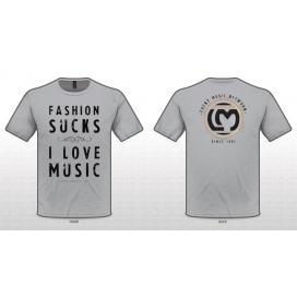 "LUCKY MUSIC T-SHIRT "" I LOVE MUSIC "" TAGLIA MEDIUM GREY"
