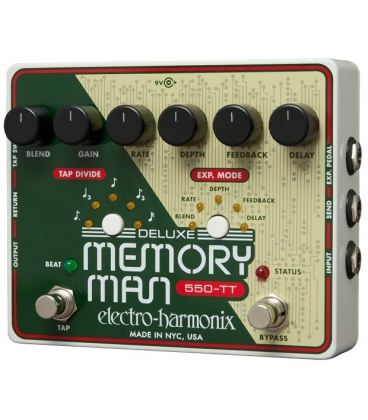 ELECTRO HARMONIX DELUXE MEMORY MAN WITH TAP TEMPO 550