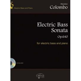 COLOMBO ELECTRIC BASS SONATA OP.640 PER BASSO E PIANOFORTE MK18741