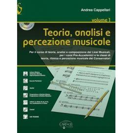 CAPPELLARI TEORIA ANALISI E PERCEZIONE MUSICALE VOL 1 + CD
