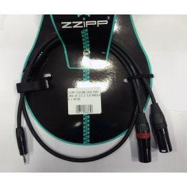 ZZIPP YZZX300 CAVO MINI JACK ST 3.5 2 XLR MASCHIO 3 METRI