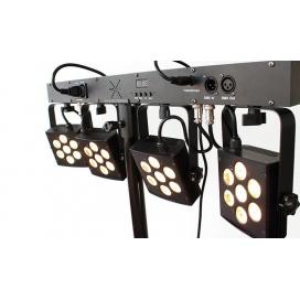 ATOMIC4DJ PLS5 SET 4 FARI LED DMX ALTA POTENZA + SUPPORTO E PEDALIERA - 61096