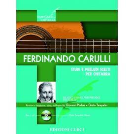 CARULLI STUDI E PRELUDI SCELTI CHITARRA - REV. PODERA/TAMPALINI + CD - EC011767