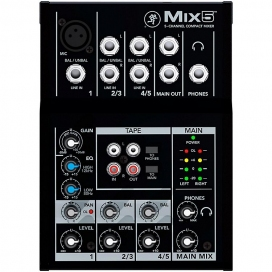 MACKIE MIX5 MIXER 5 INGRESSI