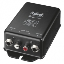 STAGE LINE MPR-6 MIC PREAMP 2 CANALI JACK IN RCA OUT