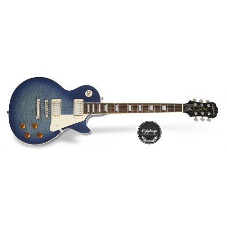 EPIPHONE LES PAUL STANDARD QUILT TOP PRO TRASPARENT BLUE