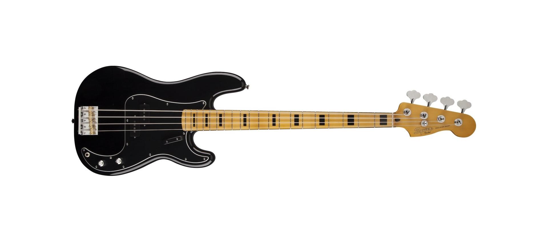 squier classic vibe 70s precision bass black maple neck
