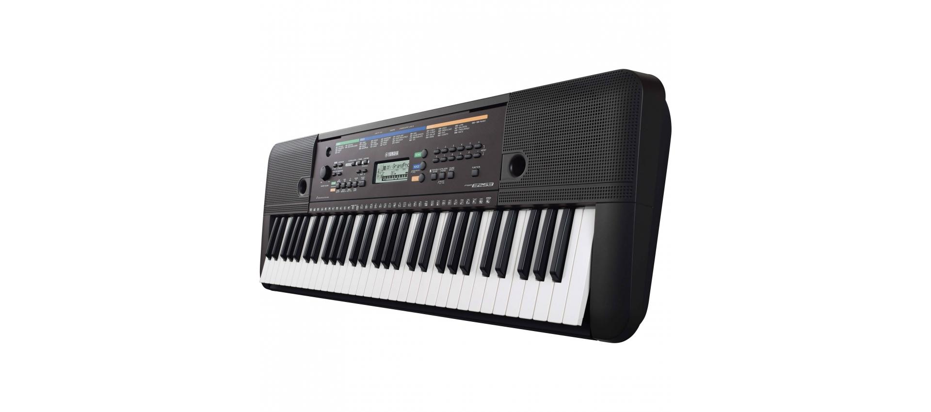 yamaha psr e253 tastiera 61 note con ritmi luckymusic. Black Bedroom Furniture Sets. Home Design Ideas