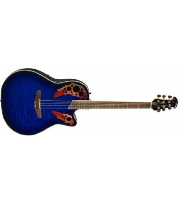OVATION CC448TQ CELEBRITY DELUXE QUILTED MAPLE BLUE BURST