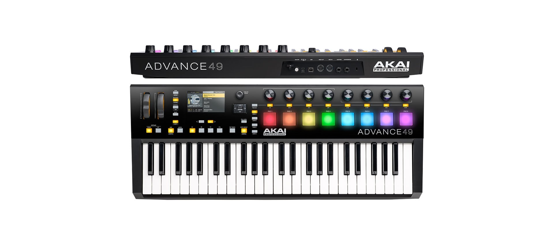 akai advance 49 controller usb midi luckymusic. Black Bedroom Furniture Sets. Home Design Ideas