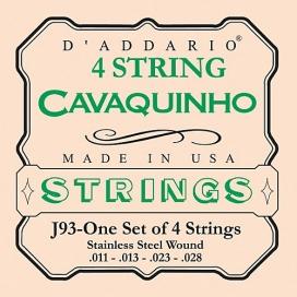 D'ADDARIO J93 CAVAQUINHO SET IN ACCIAIO