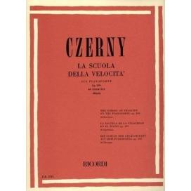 CZERNY LA SCUOLA DELLA VELOCITA' SU PIANOFORTE 40 ESERCIZI OP.299 ER2733