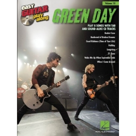 AAVV EASY GUITAR PLAY ALONG V. 10: GREEN DAY + CD FAB9781480355163