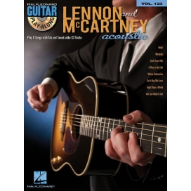 AAVV GUITAR PLAY ALONG VOLUME 123 LENNON MCCARTNEY AC.GUIT.