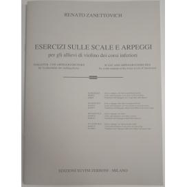 ZANETTOVICH ESERCIZI SU SCALE E ARPEGGI PER VIOLINO VOL 1