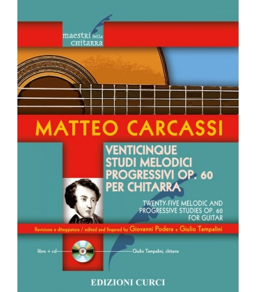 CARCASSI 25 STUDI MELODICI E PROGRESSIVI OPERA 60 + CD EC11866