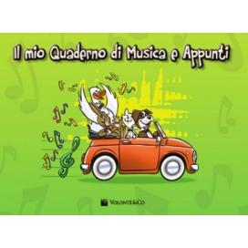MIO QUADERNO MUSICA E APPUNTI CON RIGHI SPAZIATI LARGHI MB359