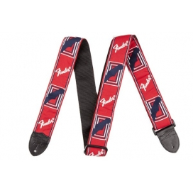 FENDER STRAP RED WHITE AND BLUE
