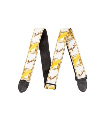 FENDER STRAP WHITE BROWN AND YELLOW