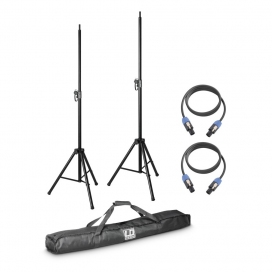 LD SYSTEMS DAVE 8 SET2 2 X SPEAKER STAND WITH BAG + 2 X SPEAKER CABLE 5 MT.