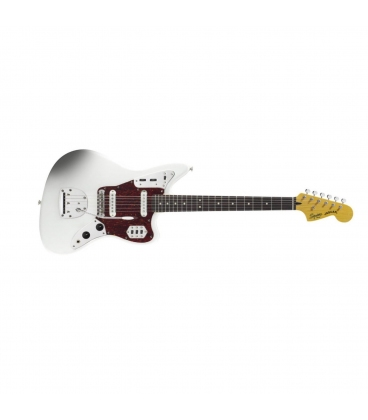SQUIER JAGUAR VINTAGE MODIFIED ROSEWOOD OLYMPIC WHITE