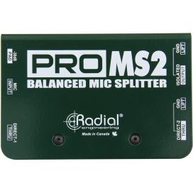 RADIAL PRO MS2 MICROPHONE SPLITTER