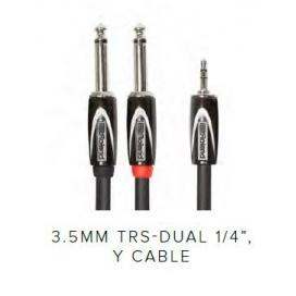 ROLAND RCC103528 3 MT INTERCONNET CABLE 3.5 TRS DUAL JACK