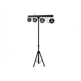 ATOMIC4DJ PLS4 SET 4 FARI LED DMX+STAND+PEDALIERA WIRELESS