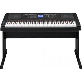 YAMAHA DGX660B DIGITAL PIANO BLACK CON MOBILE