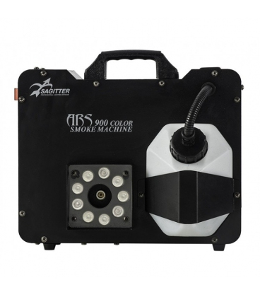 SAGITTER ARS900C MACCHINA DEL FUMO CON RADIOMANDO+ DMX 9X3W RGB LED