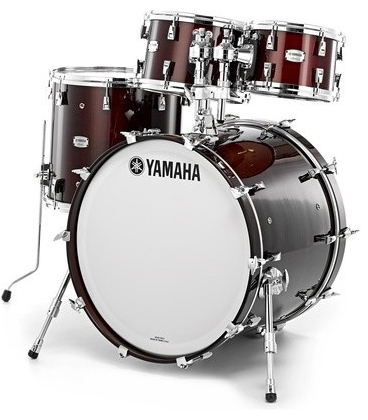 YAMAHA ABSOLUTE MAPLE HYBRID AMB2218WLN/AMP6F3WLN CLASSIC WALNUT DRUM KIT